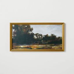 "13.9"" x 25.4"" Horizontal Landscape Framed Canvas - Threshold™ designed with Studio McGee   Target"