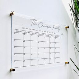 Personalized Acrylic Calendar For Wall || dry erase board lucite clear acrylic calendar minimalis... | Etsy (US)