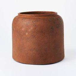 "8"" x 9.5"" Rustic Vase Brown - Threshold™ designed with Studio McGee   Target"