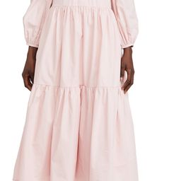 ENGLISH FACTORY Ruffled Neck Midi Dress   Shopbop