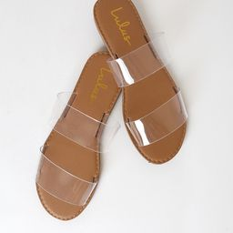 Time to Chill Clear Slide Sandals | Lulus (US)
