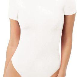 MANGOPOP Women's Round Neck Short Sleeve T Shirts Basic Bodysuits | Amazon (US)