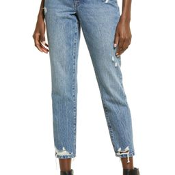 The Madison Ripped Crop Straight Leg Jeans | Nordstrom