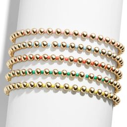 Vibrant Pisa Set of 5 Beaded Stretch Bracelets | Nordstrom