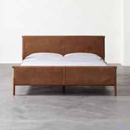 Curator King Leather Bed + Reviews | CB2 | CB2