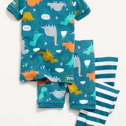 Unisex 3-Piece Printed Pajama Set for Toddler & Baby | Old Navy (US)
