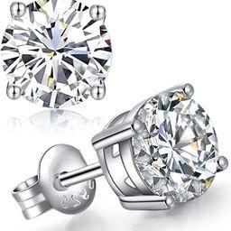 jiamiaoi Ohrstecker Silber 925 Damen Herren Ohrringe mit Brillant AAAA+ Zirkonia Diamant Ohrringe...   Amazon (DE)