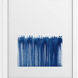 Indigo Abstract Brush Strokes Framed Wall Art | Nordstrom