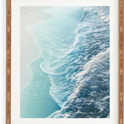 Soft Turquoise Ocean Dream Wave Framed Wall Art | Nordstrom