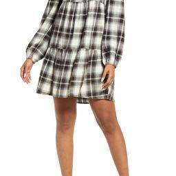 Plaid Long Sleeve Minidress | Nordstrom