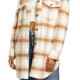 Brushed Plaid Shirt Jacket | Nordstrom