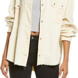 Frayed Corduroy Shirt Jacket   Nordstrom