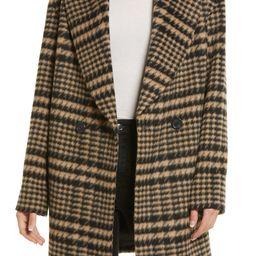 Plaid Shawl Collar Coat   Nordstrom