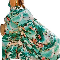Women's Swimsuit Beach Cover Up Long Bikini Beach Cover Up Polyester Beach Blouses Kimono Cardiga... | Amazon (US)