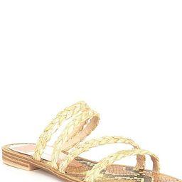 Izabel Raffia Square Toe Sandals | Dillards