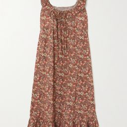 Nymphea ruffled floral-print cotton midi dress | Net-a-Porter (US)