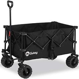 Sekey Folding Wagon Cart Collapsible Outdoor Utility Wagon with All Terrain Wheels, Heavy Duty Be...   Amazon (US)