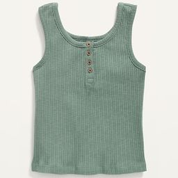 Cropped Rib-Knit Henley Tank Top for Girls   Old Navy (US)