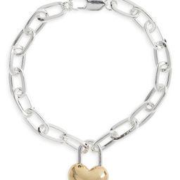 Padlock Heart Charm Chain Link Bracelet | Nordstrom | Nordstrom