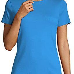 Lands' End Women's All Cotton Short Sleeve Crewneck T-Shirt | Amazon (US)