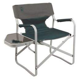 Coleman Outpost Breeze Portable Folding Adult Deck Chair with Side Table, Green   Walmart (US)