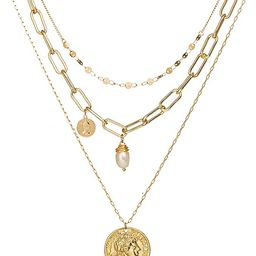 WOSKATLY Gold Initial Necklaces for Women Girls, Necklace Layered Gold Plated Necklace for Women ...   Amazon (US)