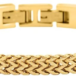 Geoffrey Beene Men's Stainless Steel Double Franco Chain Bracelet with Extension   Amazon (US)