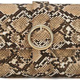 Charming Tailor Snake Clutch Purse with Wrist Strap PU Python Clutch Dress Handbag   Amazon (US)
