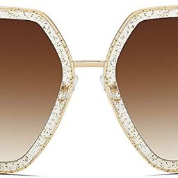 WOWSUN Oversized Big Fashion Sunglasses For Women Irregular Fashion Shades   Amazon (US)
