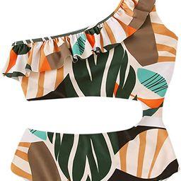 SweatyRocks Women's One Piece Swimsuit One Shoulder Cut Out Leopard Tie Waist Bathing Suits Monok...   Amazon (US)