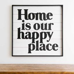 Home Is Our Happy Place Wall Plaque | Kirkland's Home