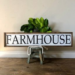 Large FARMHOUSE Sign | Customized Sign | Framed Farmhouse Sign | Kitchen Decor | Kitchen Sign | F... | Etsy (US)