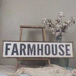 Framed Farmhouse Sign, Rustic Farmhouse Sign, Farmhouse Wall Decor | Etsy (US)