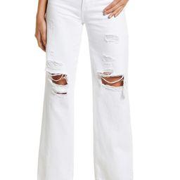 Distressed High Waist Wide Leg Jeans | Nordstrom