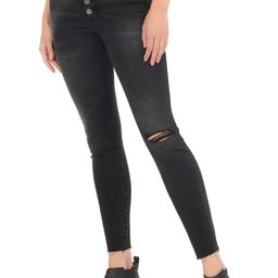 Donna Fab Ab Exposed Button Raw Hem Ankle Skinny Jeans | Nordstrom | Nordstrom