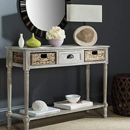 Safavieh Home Collection Christa Vintage White 3-Drawer Storage Console Table | Amazon (US)