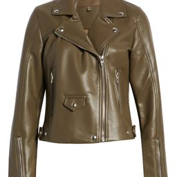 Faux Leather Moto Jacket   Nordstrom