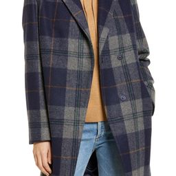 Plaid Notch Collar Coat   Nordstrom