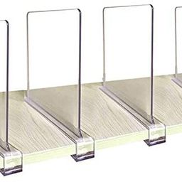 CY craft Acrylic Shelf Dividers for Closets,Wood Shelf Dividers, 4 PCS Clear Shelf Separators,Per...   Amazon (US)