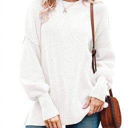 Imily Bela Womens Oversized Tunic Sweaters Fall Slouchy Long Sleeve Ribbed Knit Side Slit Pullove...   Amazon (US)