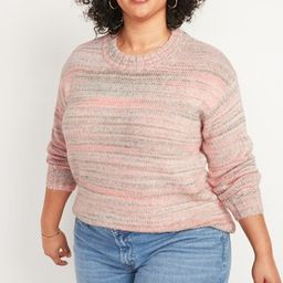 Oversized Cozy Space-Dye Plus-Size Sweater | Old Navy (US)