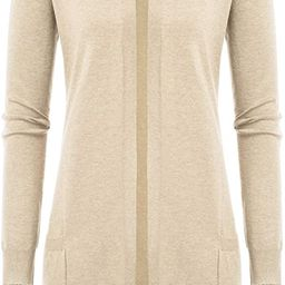 GRACE KARIN Women Open Front Cardigan Sweaters Pockets Long Sleeve Shrugs   Amazon (US)