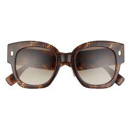 52mm Gradient Square Sunglasses | Nordstrom