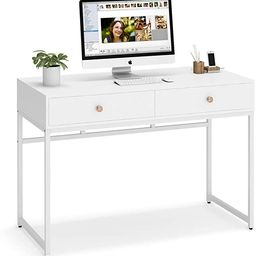 Tribesigns Computer Desk, Modern Simple 47 inch Home Office Desk Study Table Writing Desk with 2 ... | Amazon (US)
