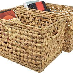 Lil Handicraft Set of 2 Wicker Baskets, Storage Baskets for Organizing, Woven Baskets, Organizer,... | Amazon (US)