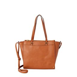 Time and Tru Faux Leather Crossbody Tote Bag | Walmart (US)