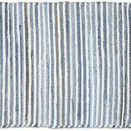 DII Chindi Collection Handmade Rag Rug, Colors May Vary, 4 x 6', Denim, 1 Piece | Amazon (US)