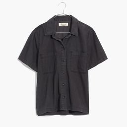 Denim Short-Sleeve Button-Up Shirt in Lunar Wash   Madewell