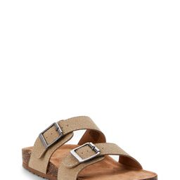 Time and Tru Two Band Footbed Slide (Women's) | Walmart (US)