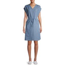 Time and True Woven Cinch Waist Shirt Dress | Walmart (US)
